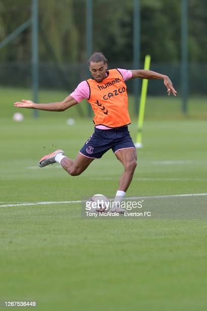 Dominic Calvert-Lewin during the Everton training session at USM Finch Farm on August 21 2020 in Halewood, England.