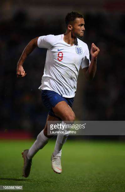 Dominic CalvertLewin of England runs off the ball during the European Under21 Championship Qualifier match between England U21 and Andorra U21 at...