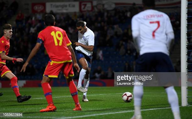 Dominic CalvertLewin of England scores the third goal during the 2019 UEFA European Under21 Championship Qualifier between England U21 and Andorra...