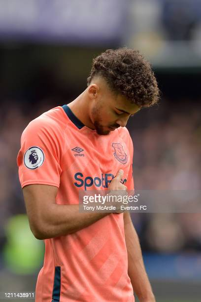 Dominic Calvert-Lewin of Everton during the Premier League match between Chelsea and Everton at Stamford Bridge on March 8, 2020 in London, England.