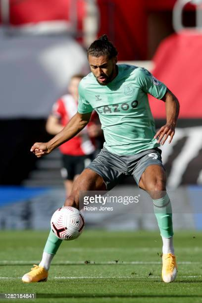 Dominic CalvertLewin of Everton during the Premier League match between Southampton and Everton at St Mary's Stadium on October 25 2020 in...