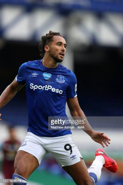 Dominic Calvert-Lewin of Everton during the Premier League match between Everton FC and Aston Villa at Goodison Park on July 16, 2020 in Liverpool,...