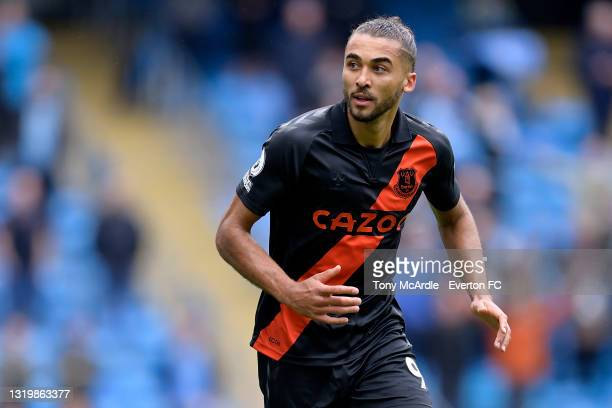 Dominic Calvert-Lewin of Everton during the Premier League match between Manchester City and Everton at the Etihad Stadium on May 23, 2021 in...