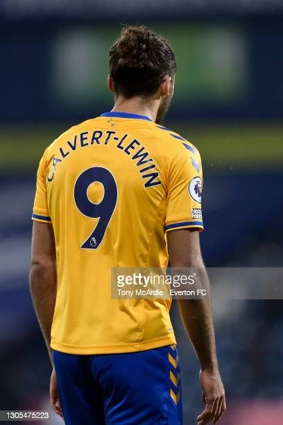 Dominic Calvert-Lewin of Everton during the Premier League match between West Bromwich Albion and Everton at The Hawthorns on March 4 2021 in West...