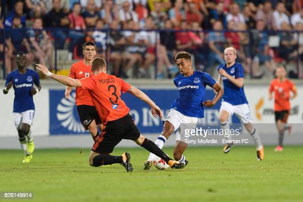 Dominic CalvertLewin of Everton during UEFA Europa League Qualifier match between MFK Ruzomberok and Everton on August 3 2017 in Ruzomberok Slovakia