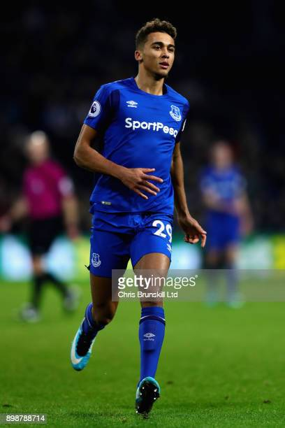 Dominic CalvertLewin of Everton in action during the Premier League match between West Bromwich Albion and Everton at The Hawthorns on December 26...