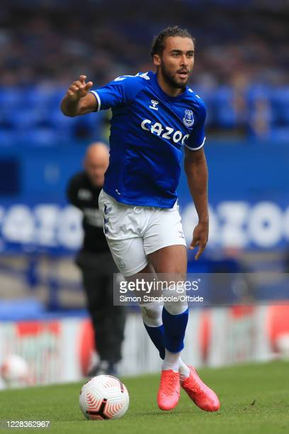 Dominic Calvert-Lewin of Everton in action during the pre-season friendly match between Everton and Preston North End at Goodison Park on September...