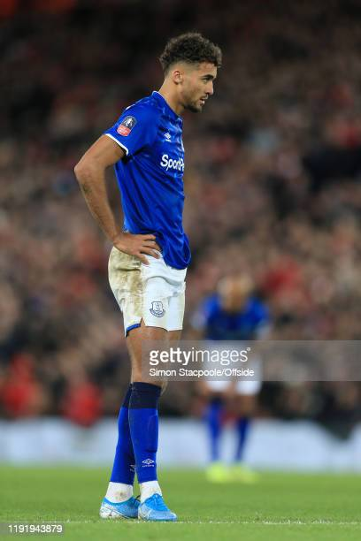 Dominic CalvertLewin of Everton looks dejected during the FA Cup Third Round match between Liverpool and Everton at Anfield on January 5 2020 in...