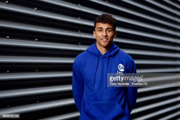 Dominic Calvert-Lewin of Everton poses for a photo at USM Finch Farm on November 3, 2017 in Halewood, England.