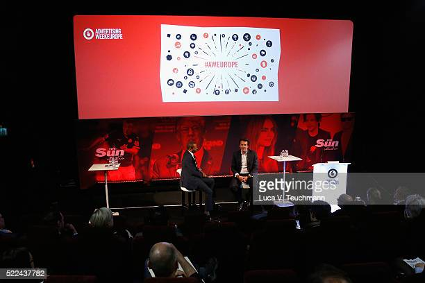 Dominic Carter Chief Commercial Officer News UK and Yannick Bollore Global Chairman CEO Havas during Yannick Bollore Live part of Advertising Week...