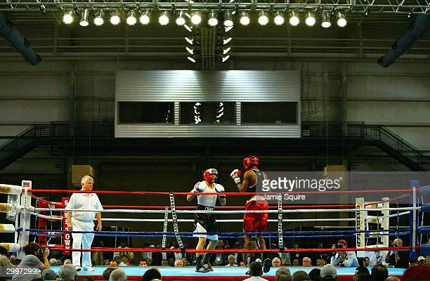 Dominic Chavez fights Lorenzo Reynolds during the United States Olympic Team Boxing Trials on February 19 2004 at Tunica Arena and Exhibition Center...