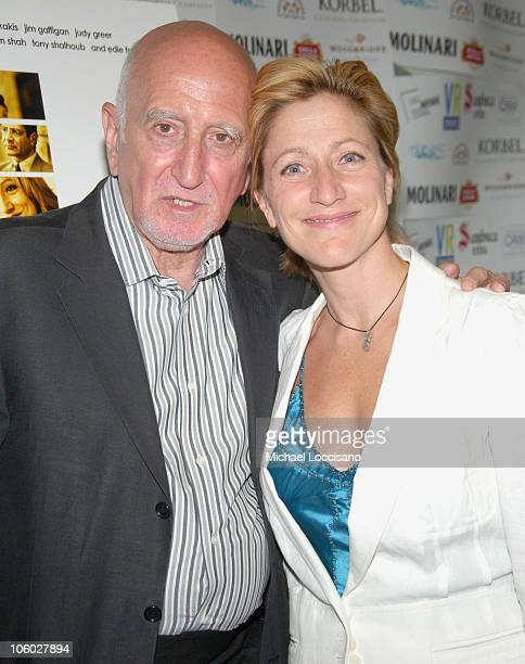 Dominic Chianese and Edie Falco during The Great New Wonderful Red Carpet Premiere at Angelika Theatre in New York City New York United States