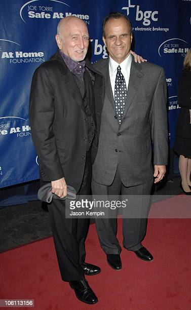 Dominic Chianese and Joe Torre during Joe Torre's Safe At Home Foundation's Fourth Annual Gala November 10 2006 at Chelsea Piers Pier 60 in New York...