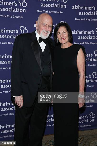 Dominic Chianese and LouEllen Barkan President and CEO of the Alzheimer's Association attend the 2014 ForgetMeNot Gala An Evening To End Alzheimer's...