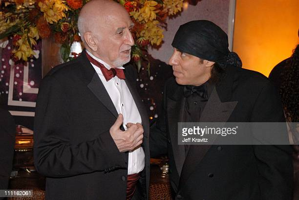 Dominic Chianese and Steve Van Zandt during HBO Screen Actors Guild Party at Spago in Beverly Hills CA United States