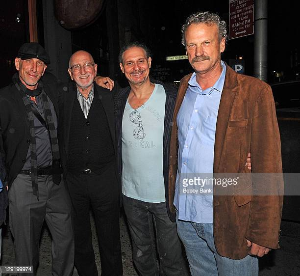 Dominic Chianese Jr Dominic Chianese Steve Walter and Peter Blachley of the Morrison Hotel Gallery attend the Morrison Hotel Gallery 10th Anniversary...