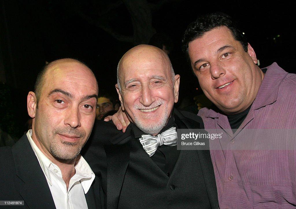 Dominic Chianese (center), Steve Schirripa and guest