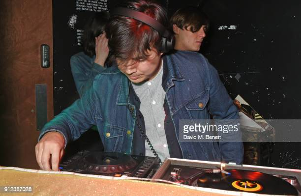 Dominic Chung DJs at the ALEXACHUNG Fantastic collection party on January 30 2018 in London England