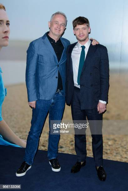 Dominic Cooke and Billy Howle attend a special screening of 'On Chesil Beach' at The Curzon Mayfair on May 8 2018 in London England