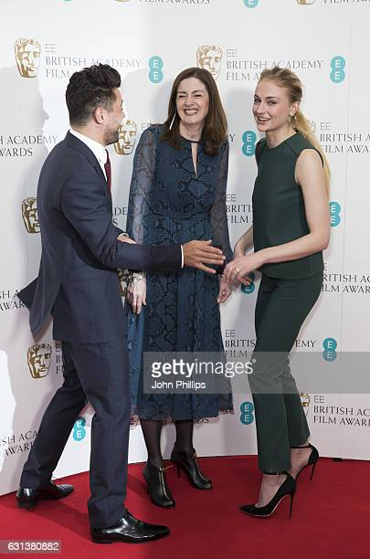 Dominic Cooper Amanda Berry and Sophie Turner attend the nominations for the EE British Academy Film Awards are announced on January 10 2017 in...