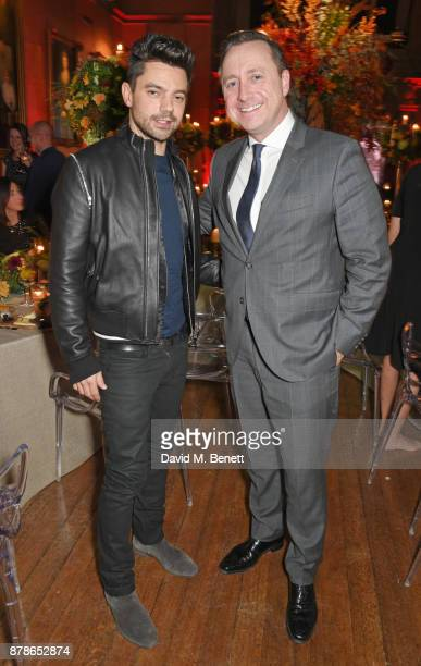 Dominic Cooper and Andrew Doyle Director of Audi UK attend the Audi A8 Launch at Cowdray House on November 24 2017 in Midhurst England