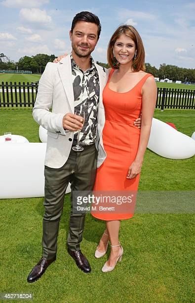 Dominic Cooper and Gemma Arterton attend Audi International at Guards Polo Club near Windsor to support England as it faces Argentina for the...