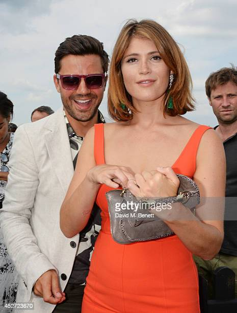 Dominic Cooper and Gemma Arterton attend Audi International at Guards Polo Club, near Windsor, to support England as it faces Argentina for the...