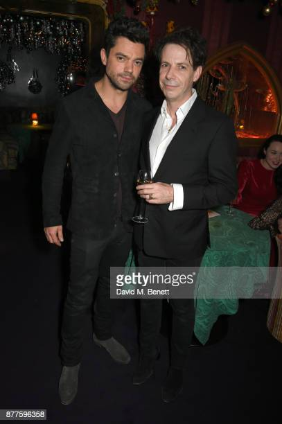 Dominic Cooper and guest attend the Nick Cave The Bad Seeds x The Vampires Wife x Matchesfashioncom party at Loulou's on November 22 2017 in London...