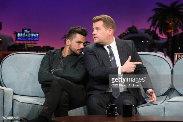 Dominic Cooper and James Corden during 'The Late Late Show with James Corden' Thursday June 22 2017 On The CBS Television Network