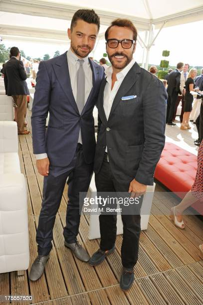 Dominic Cooper and Jeremy Piven attend day 2 of the Audi Polo Challenge at Coworth Park Polo Club on August 4, 2013 in Ascot, England.