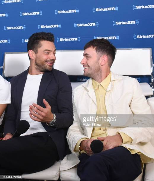 Dominic Cooper and Joseph Gilgun attend SiriusXM's Entertainment Weekly Radio Broadcasts Live From Comic Con in San Diego at Hard Rock Hotel San...