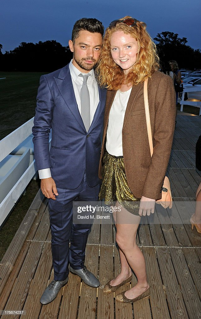 Dominic Cooper (L) and Lily Cole attend day 2 of the Audi Polo Challenge at Coworth Park Polo Club on August 4, 2013 in Ascot, England.