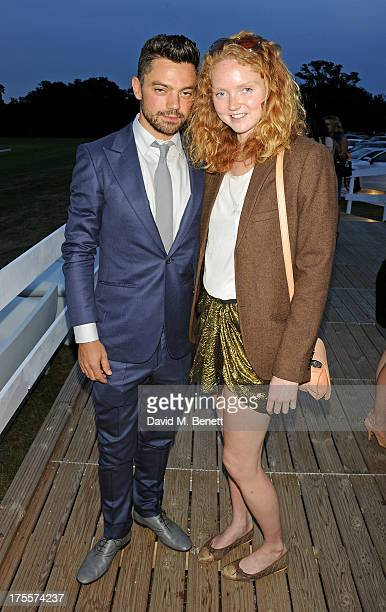Dominic Cooper and Lily Cole attend day 2 of the Audi Polo Challenge at Coworth Park Polo Club on August 4 2013 in Ascot England