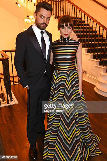 Dominic Cooper and Ophelia Lovibond attend a cocktail reception at The 62nd London Evening Standard Theatre Awards recognising excellence from across...