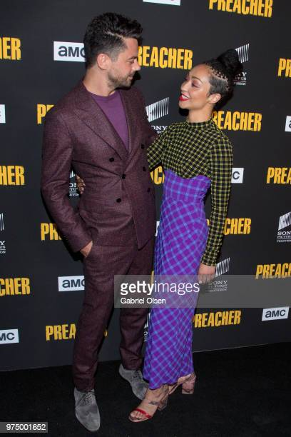 Dominic Cooper and Ruth Negga arrive for AMC's 'Preacher' season 3 premiere party at The Hearth and Hound on June 14 2018 in Los Angeles California