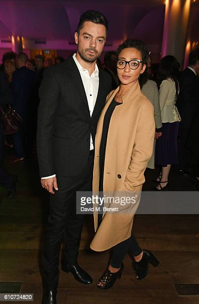 Dominic Cooper and Ruth Negga attend the press night after party for 'The Libertine' at the Haymarket Hotel on September 27 2016 in London England