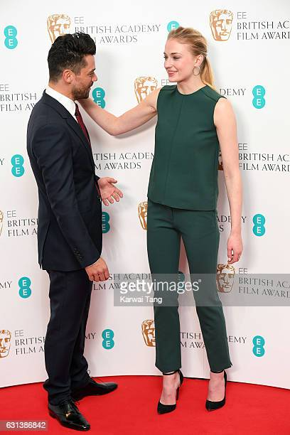 Dominic Cooper and Sophie Turner attend as the nominations for the EE British Academy Film Awards are announced at BAFTA on January 10 2017 in London...