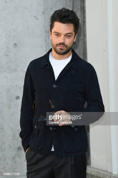 Dominic Cooper arrives the Giorgio Armani show during Milan Fashion Week Spring/Summer 2019 on September 23 2018 in Milan Italy