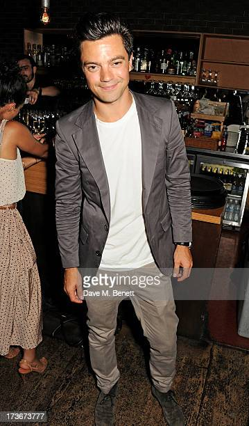 Dominic Cooper attends an after party following the press night performance of 'A Season In The Congo' at The Young Vic on July 16 2013 in London...