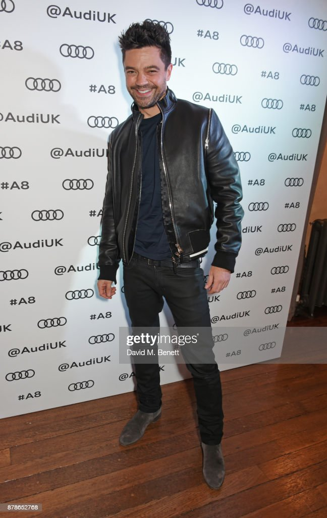 Dominic Cooper attends the Audi A8 Launch at Cowdray House on November 24, 2017 in Midhurst, England.