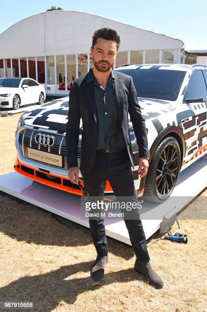 Dominic Cooper attends the Audi Polo Challenge at Coworth Park Polo Club on June 30 2018 in Ascot England