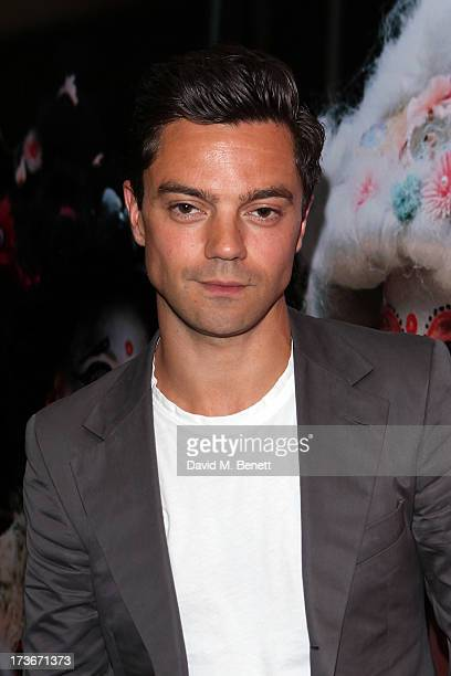 Dominic Cooper attends the OMEGA Summer Cocktail Party at OMEGA Vintage in Burlington Arcade on July 16 2013 in London England