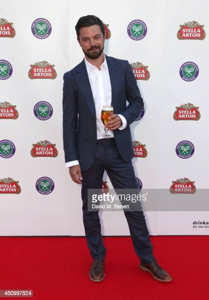 Dominic Cooper attends the Stella Artois Wimbledon 2014 official launch party at Cannizaro House on June 21 2014 in London England Stella Artois is...