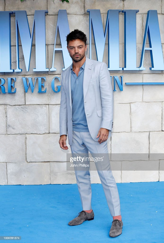 Dominic Cooper attends the UK Premiere of 'Mamma Mia! Here We Go Again' at Eventim Apollo on July 16, 2018 in London, England.