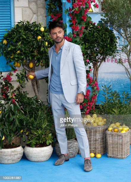 Dominic Cooper attends the UK Premiere of Mamma Mia Here We Go Again at Eventim Apollo on July 16 2018 in London England