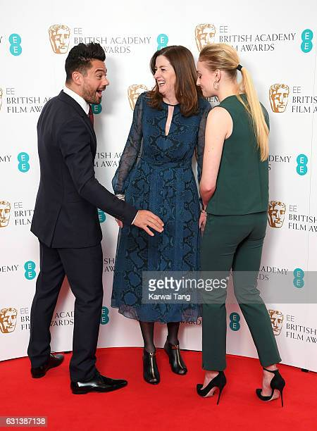 Dominic Cooper BAFTA Chief Executive Amanda Berry and Sophie Turner attend as the nominations for the EE British Academy Film Awards are announced at...