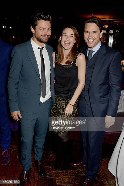 Dominic Cooper Claire Forlani and Dougray Scott attend a private dinner celebrating the opening of the OMEGA Oxford Street boutique at Aqua Shard on...