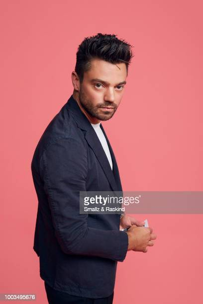 Dominic Cooper from AMC's 'Preacher' poses for a portrait at the Getty Images Portrait Studio powered by Pizza Hut at San Diego 2018 Comic Con at...