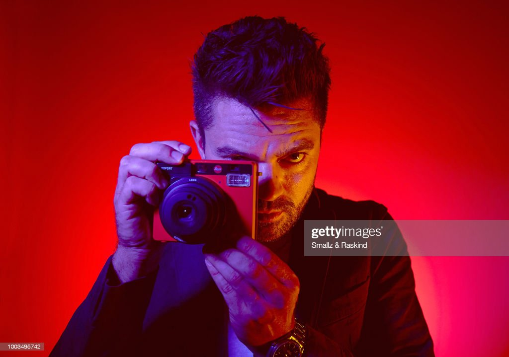 Dominic Cooper from AMC's 'Preacher' poses for a portrait at the Getty Images Portrait Studio powered by Pizza Hut at San Diego 2018 Comic Con at Andaz San Diego on July 21, 2018 in San Diego, California.