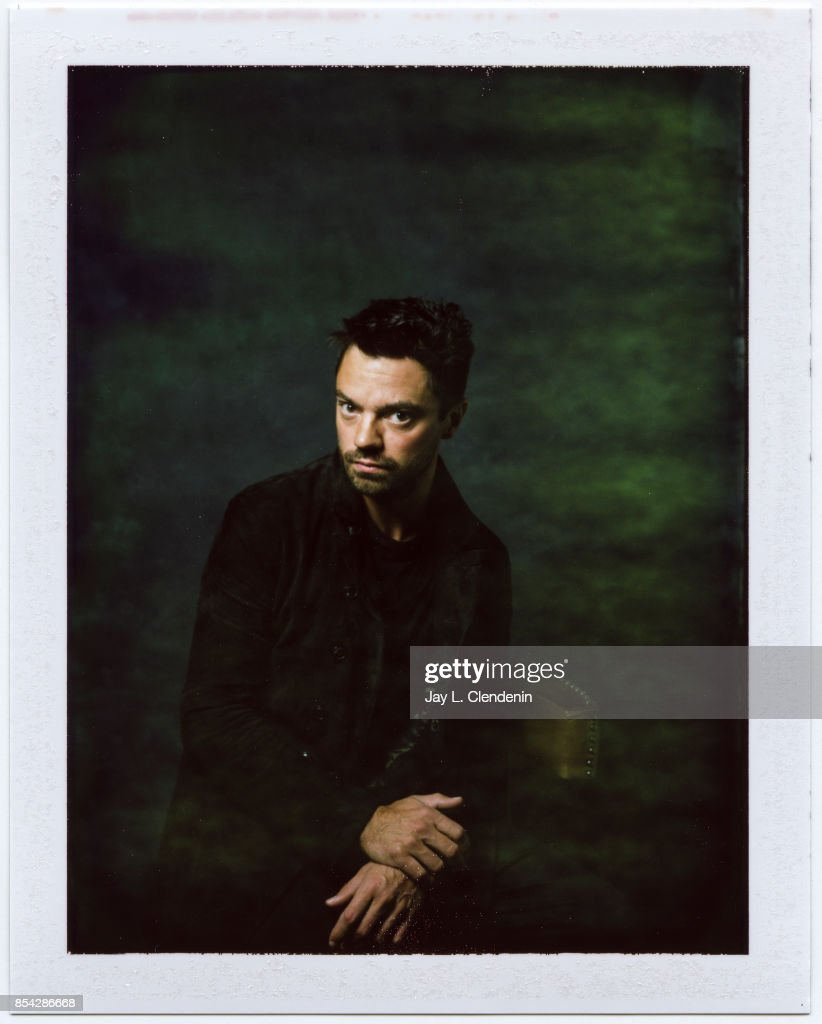 Dominic Cooper from the film 'The Escape,' is photographed on polaroid film at the L.A. Times HQ at the 42nd Toronto International Film Festival, in Toronto, Ontario, Canada, on September 12, 2017.